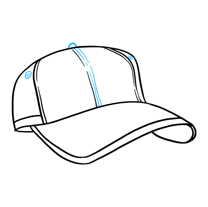 How to Draw Baseball Cap: Step 8