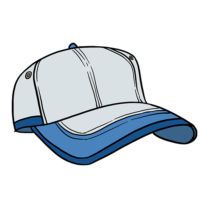 How to Draw Baseball Cap: Step 10