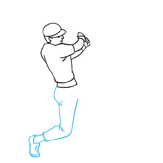 How to Draw Baseball Player Step 07