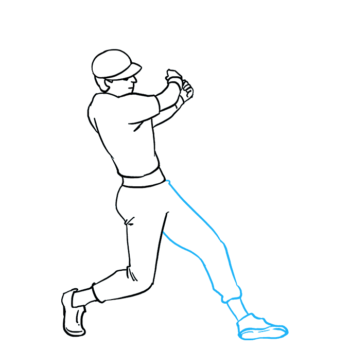 How to Draw Baseball Player Step 08