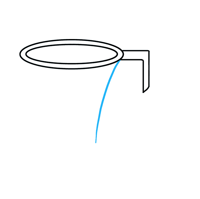 How to Draw Basketball Hoop: Step 3