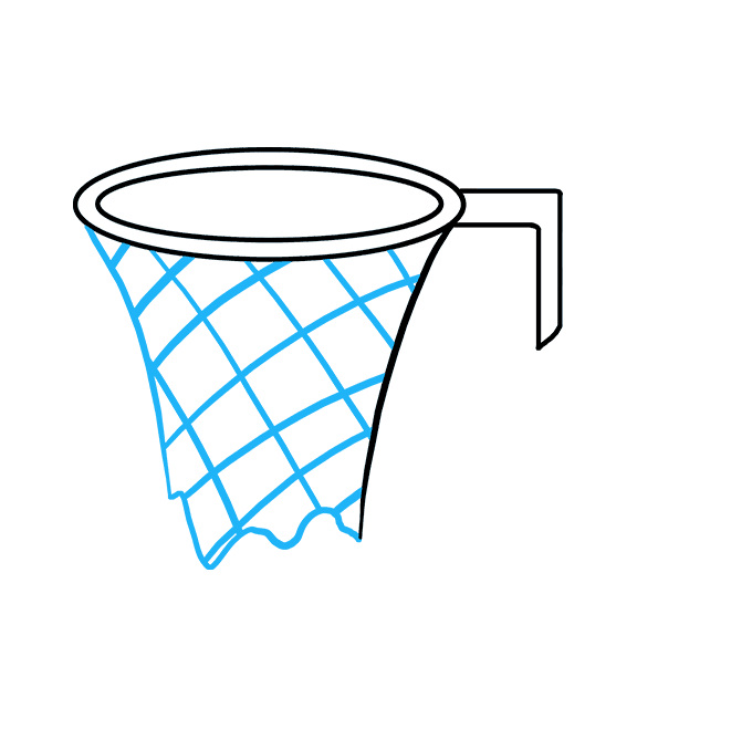 How to Draw Basketball Hoop: Step 4
