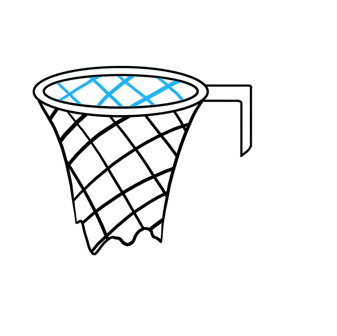 How to Draw Basketball Hoop: Step 5