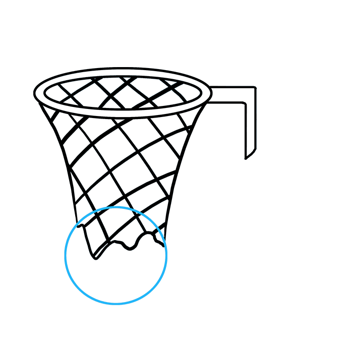How to Draw Basketball Hoop: Step 6