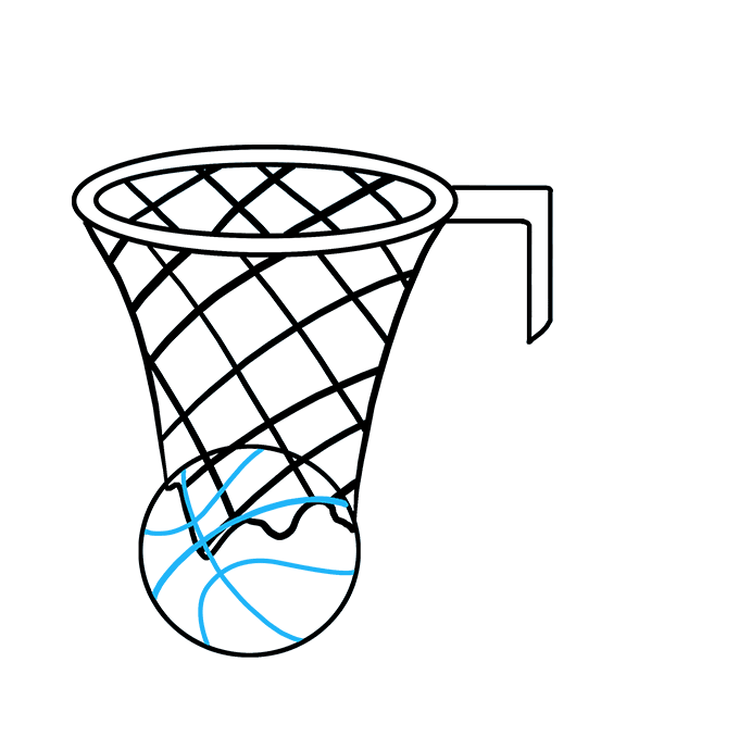 How to Draw Basketball Hoop: Step 7