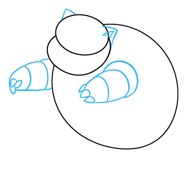 How to Draw Blastoise: Step 3