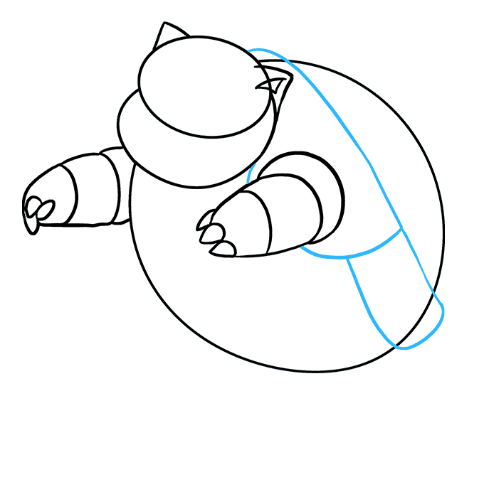 How to Draw Blastoise: Step 4