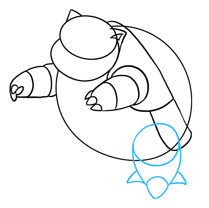 How to Draw Blastoise: Step 5