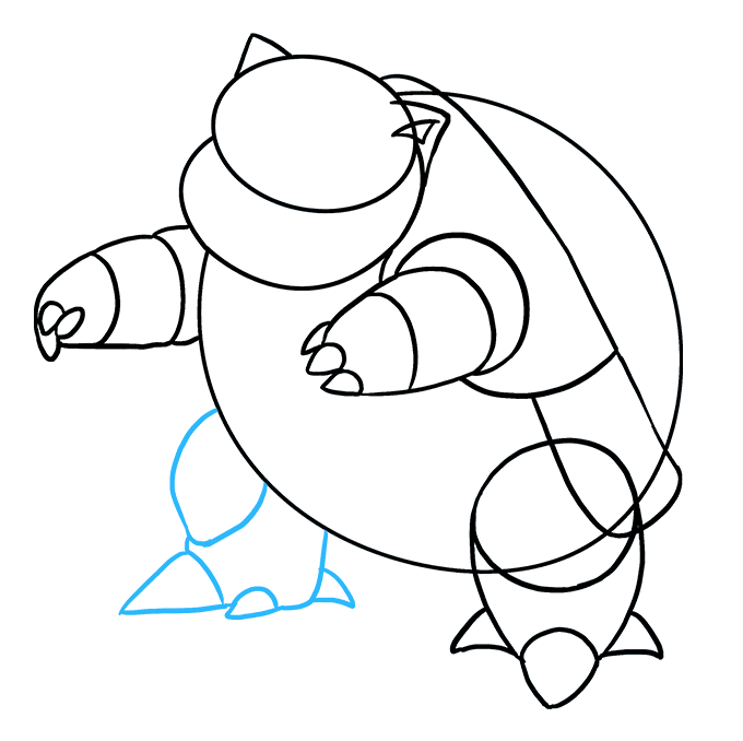 How to Draw Blastoise: Step 6