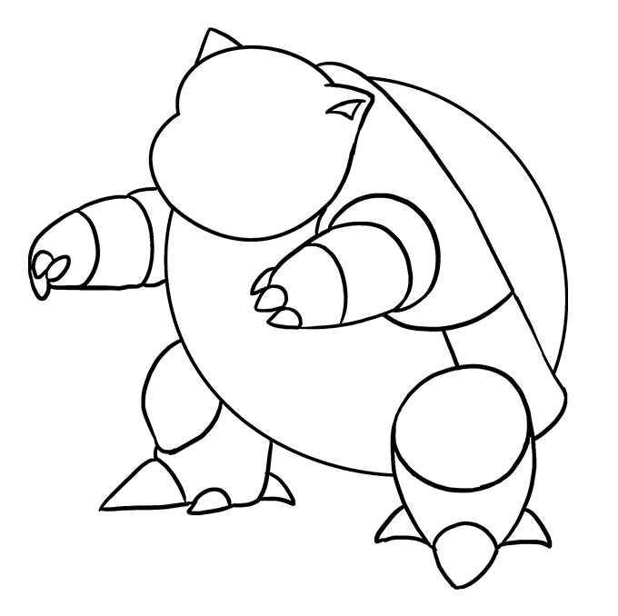 How to Draw Blastoise: Step 7