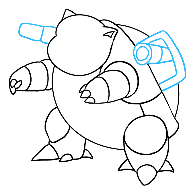 How to Draw Blastoise: Step 8