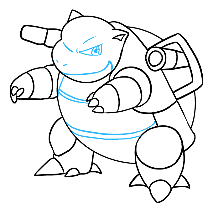 How to Draw Blastoise: Step 9