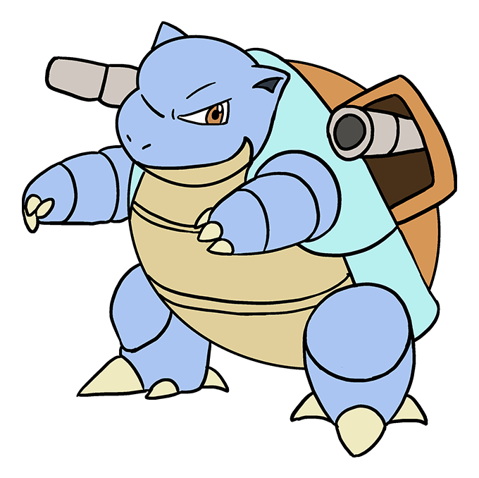 How to Draw Blastoise: Step 10