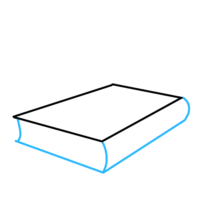 How to Draw School Books: Step 2