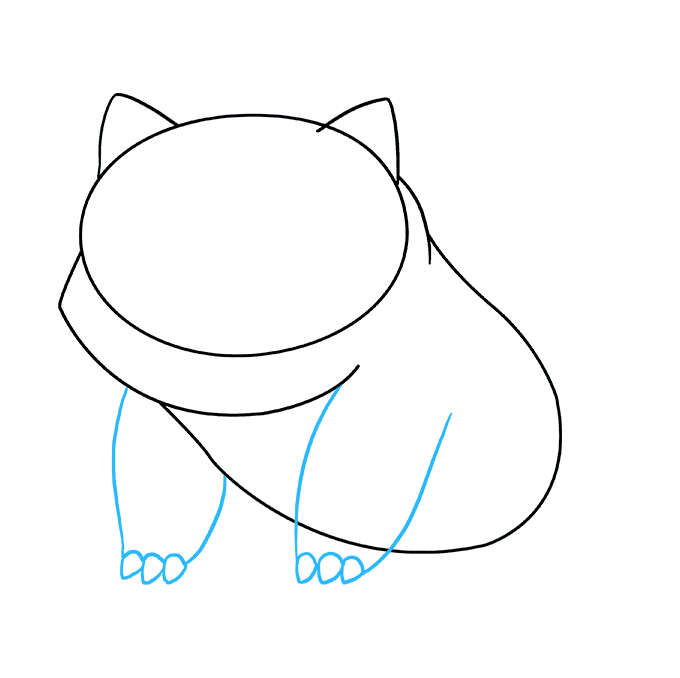 How to Draw Bulbasaur: Step 4