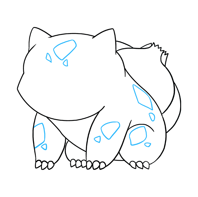 How to Draw Bulbasaur: Step 8