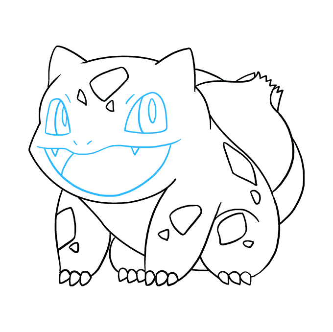 How to Draw Bulbasaur: Step 9