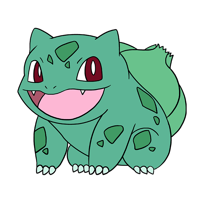 How to Draw Bulbasaur: Step 10
