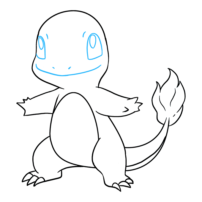 How to Draw Charmander: Step 9