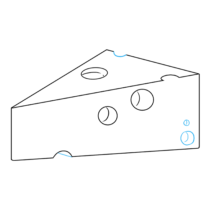 How to Draw a Cheese Step 09