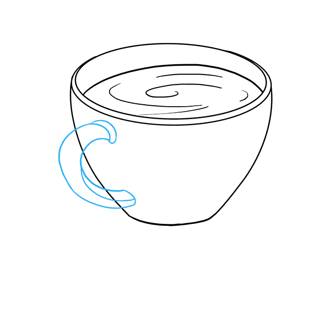 How to Draw Coffee Cup: Step 4