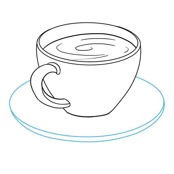 How to Draw Coffee Cup: Step 6