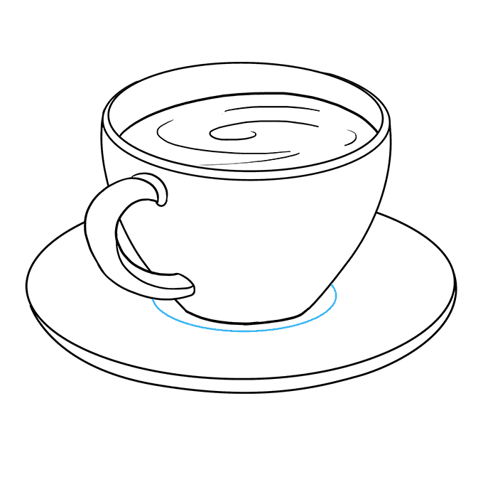 How to Draw Coffee Cup: Step 7
