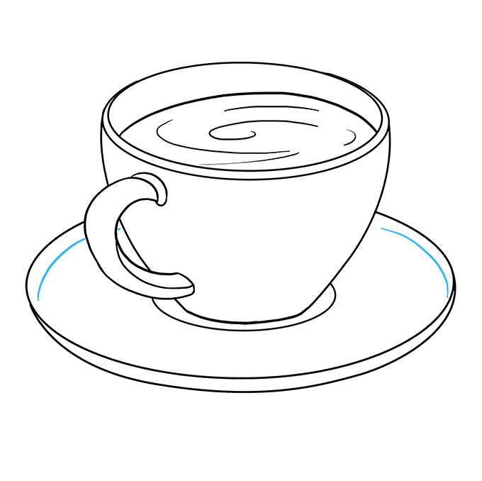 How to Draw Coffee Cup: Step 8