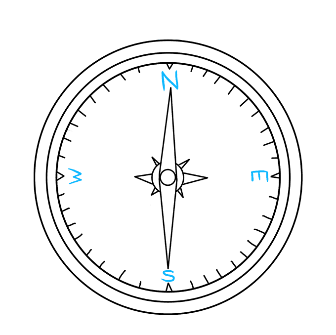 How to Draw Compass: Step 8