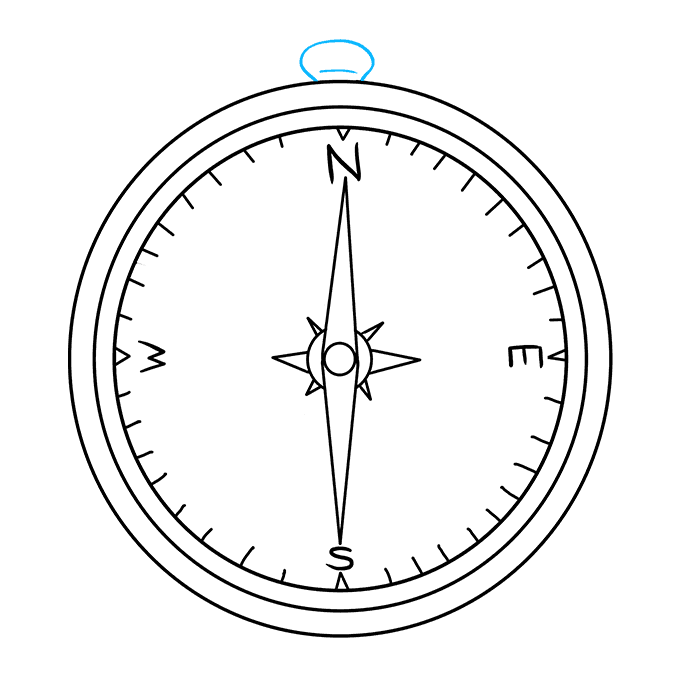How to Draw Compass: Step 9