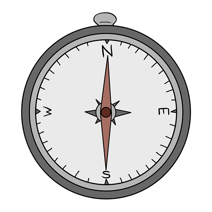 How to Draw Compass: Step 10