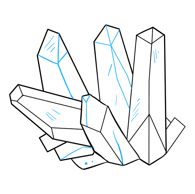 How to Draw Crystals: Step 9