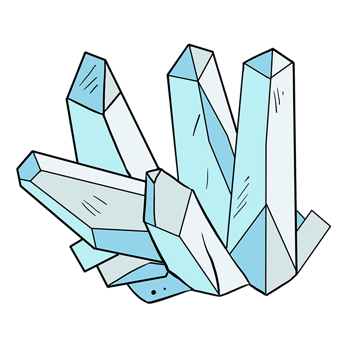 How to Draw Crystals: Step 10