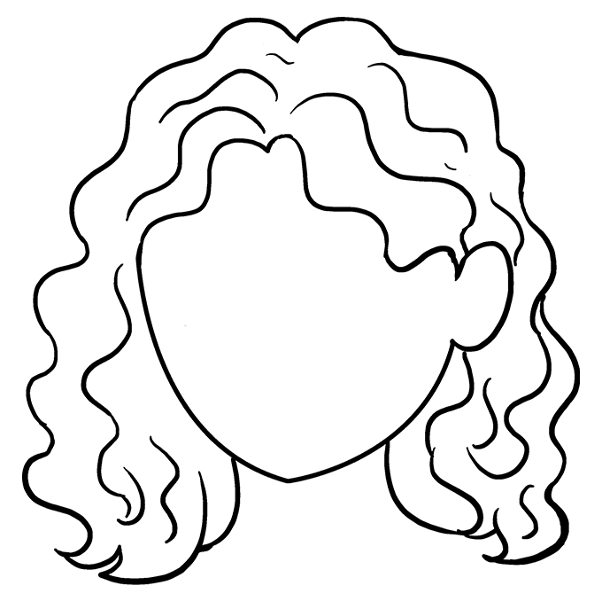 How to Draw Curly Hair: Step 9