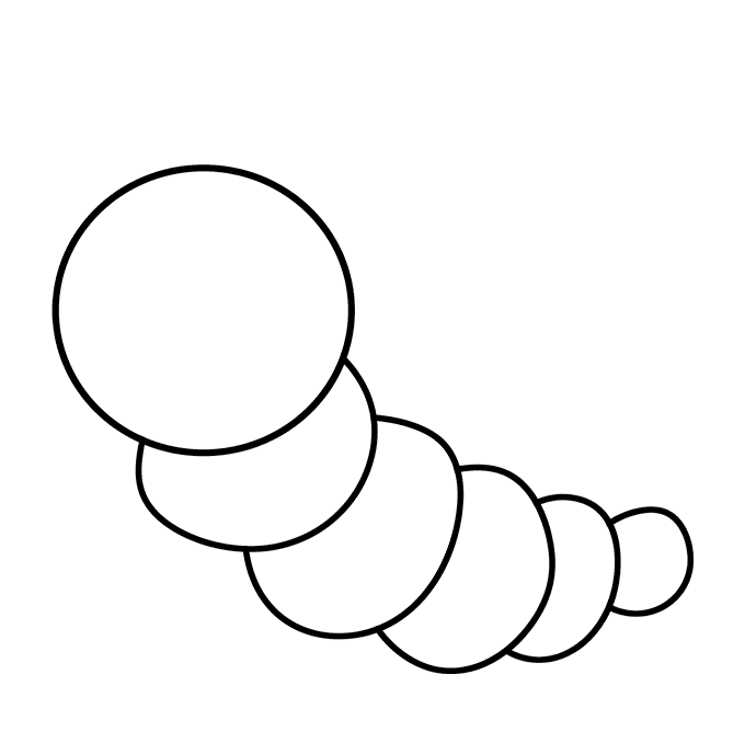 How to Draw Cute Caterpillar: Step 7