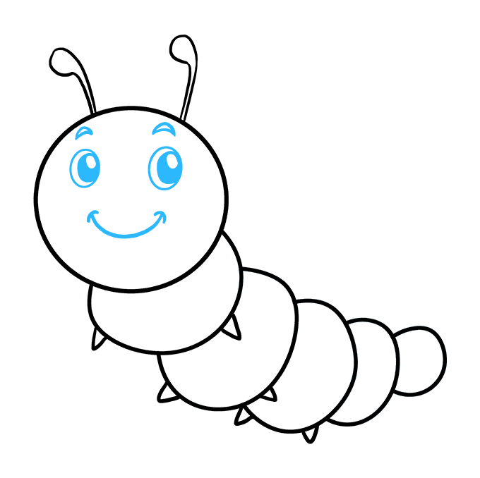 How to Draw Cute Caterpillar: Step 9