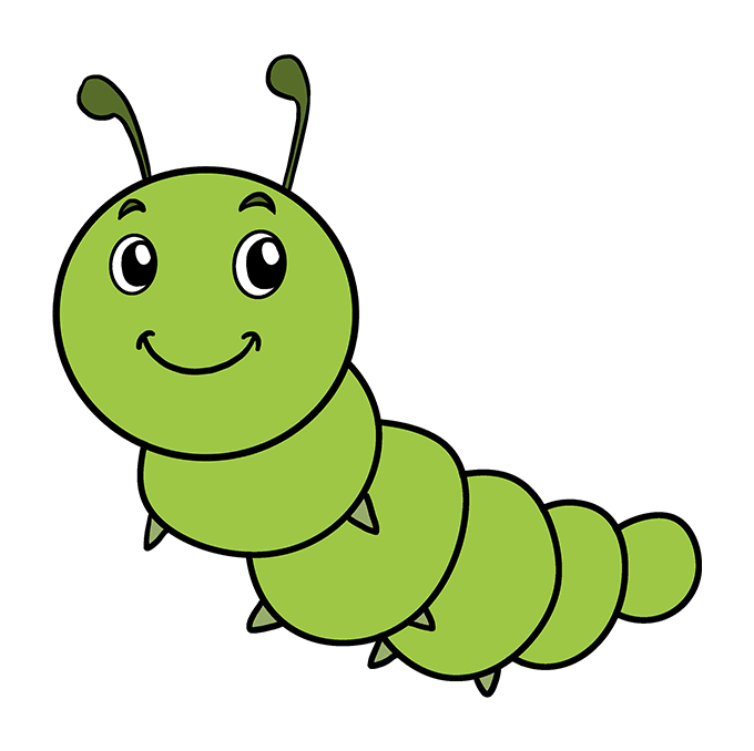 How to Draw Cute Caterpillar: Step 10