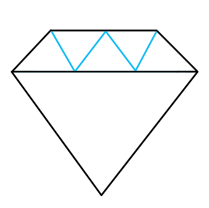 How to Draw Diamond: Step 4