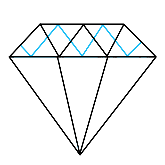 How to Draw Diamond: Step 6