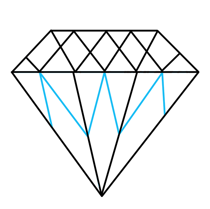 How to Draw Diamond: Step 7