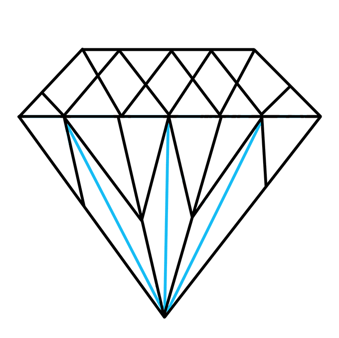How to Draw Diamond: Step 8