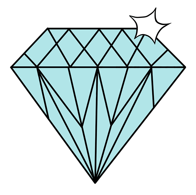 How to Draw Diamond: Step 10