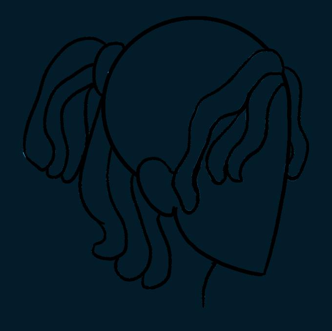 How to Draw Dreadlocks: Step 8