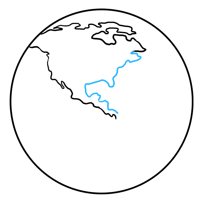How to Draw Earth: Step 4