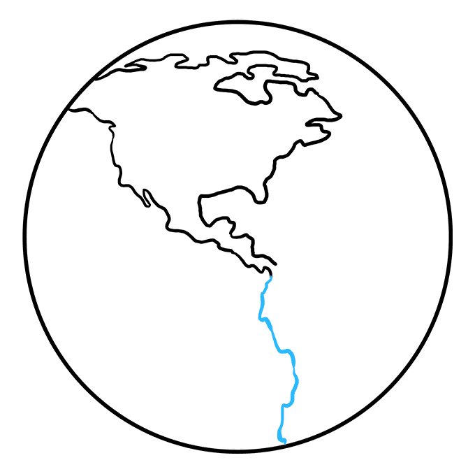 How to Draw Earth: Step 5