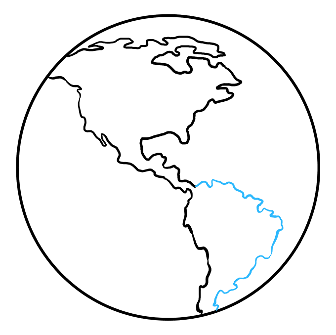 How to Draw Earth: Step 6