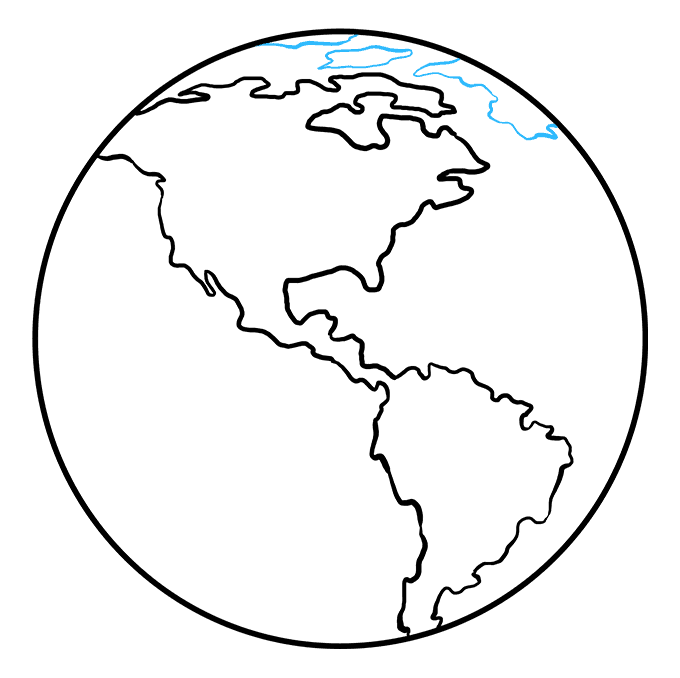 How to Draw Earth: Step 7