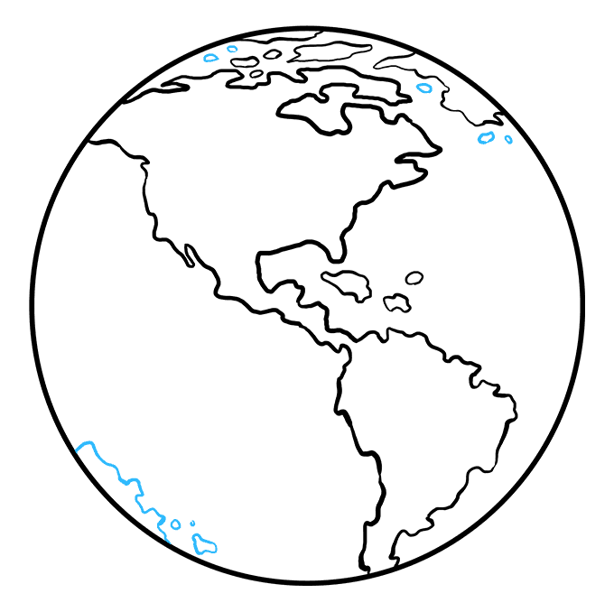 How to Draw Earth: Step 9