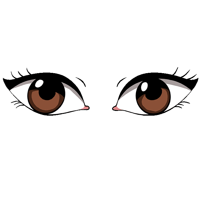How to Draw Eyes: Step 10