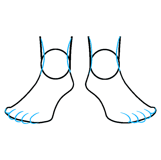 How to Draw Feet: Step 7